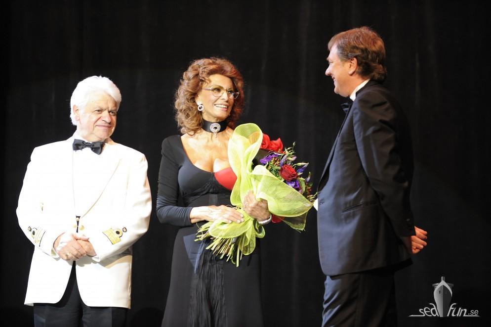 Sophia Loren gillar Aurea Spa på MSC Poesia