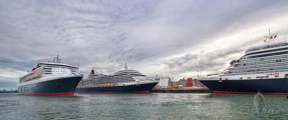 Cunard firar idag i Liverpool