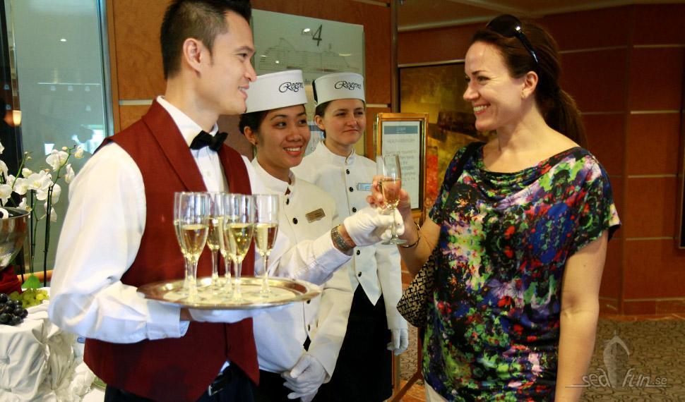 Servicen på Regent Seven Seas Cruises