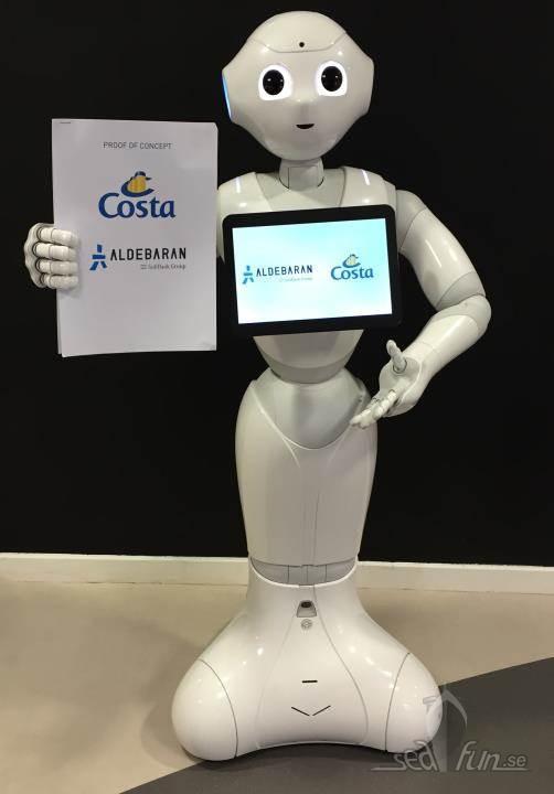 Robotar på Costa Diadema i sommar