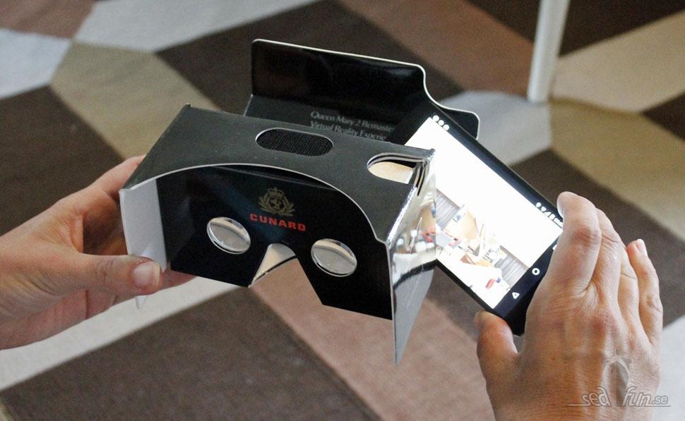 VR-upplevelse av nyrenoverade QM2