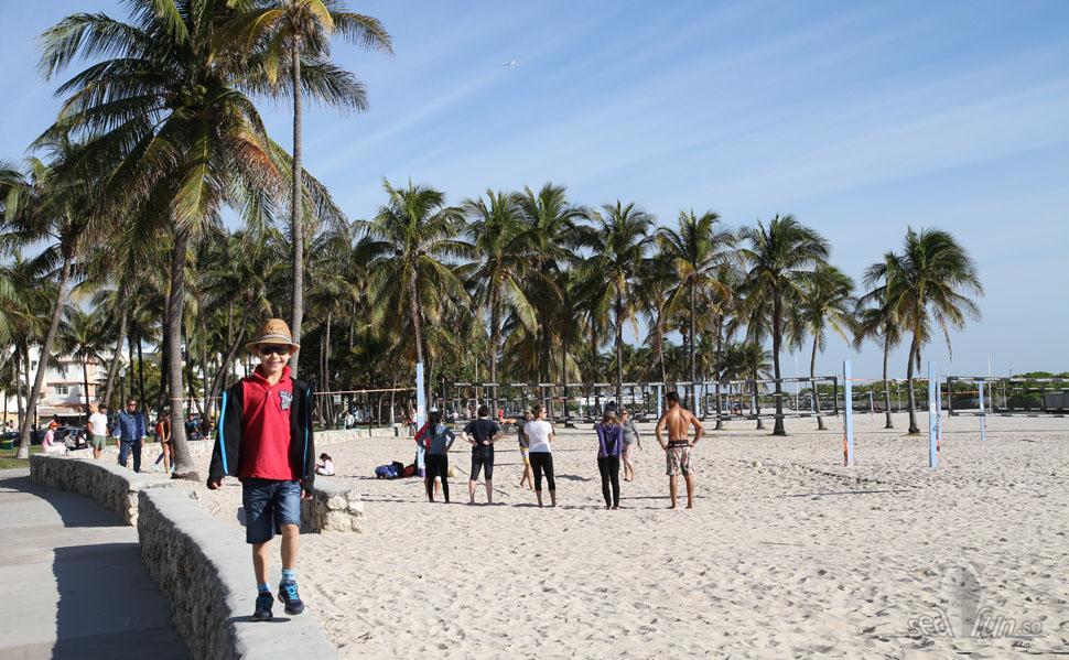 Stranden ligger precis framför hotell Avalon.