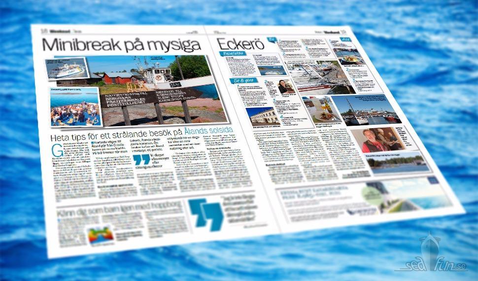 Min artikel om Eckerö på Åland