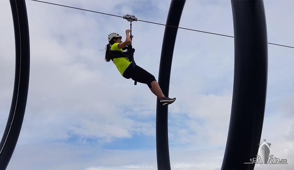 Zipline på MSC Seaview