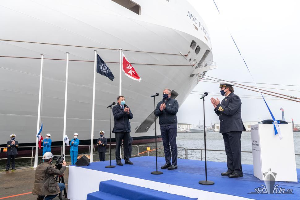 Flaggceremoni för MSC Virtuosa