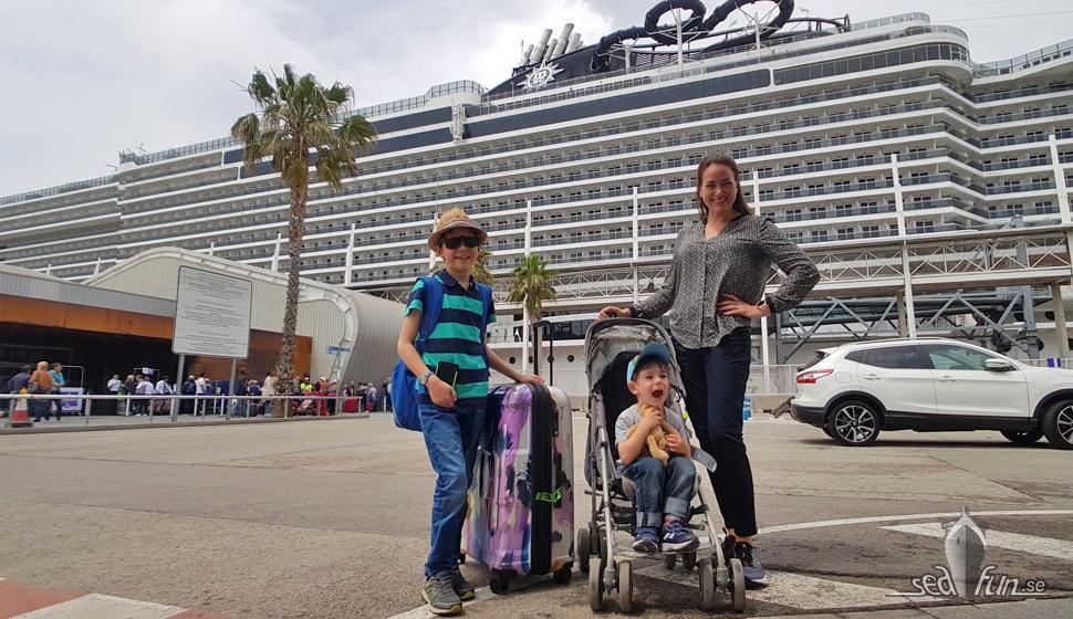 Se oss kliva ombord på MSC Seaview!