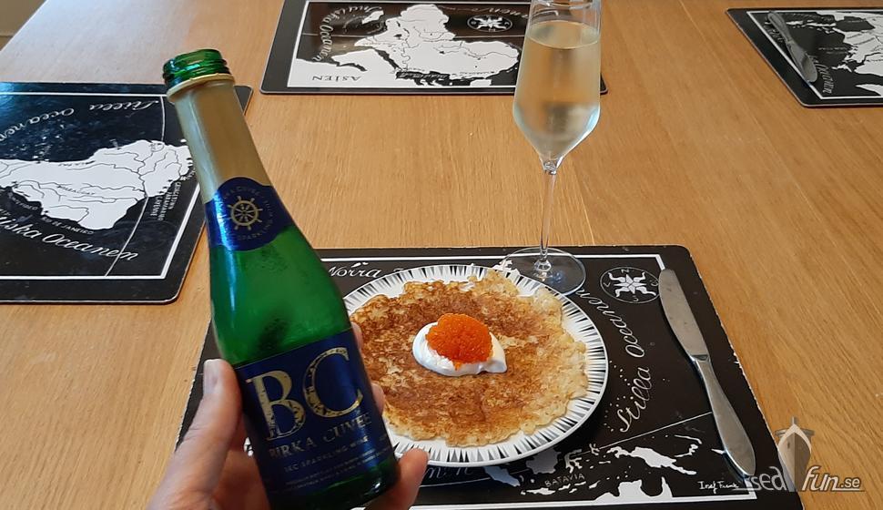 Hur smakade Birka Cuvée till raggmunk?