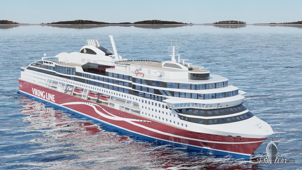 Viking Line talar om när bokningen till Viking Glory öppnar
